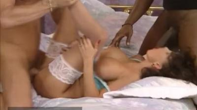 Sarah Young fucked by two workers